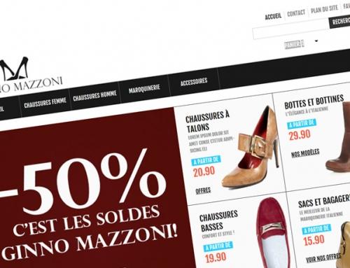 Création d'un site e-commerce Prestashop : Ginno Mazzoni